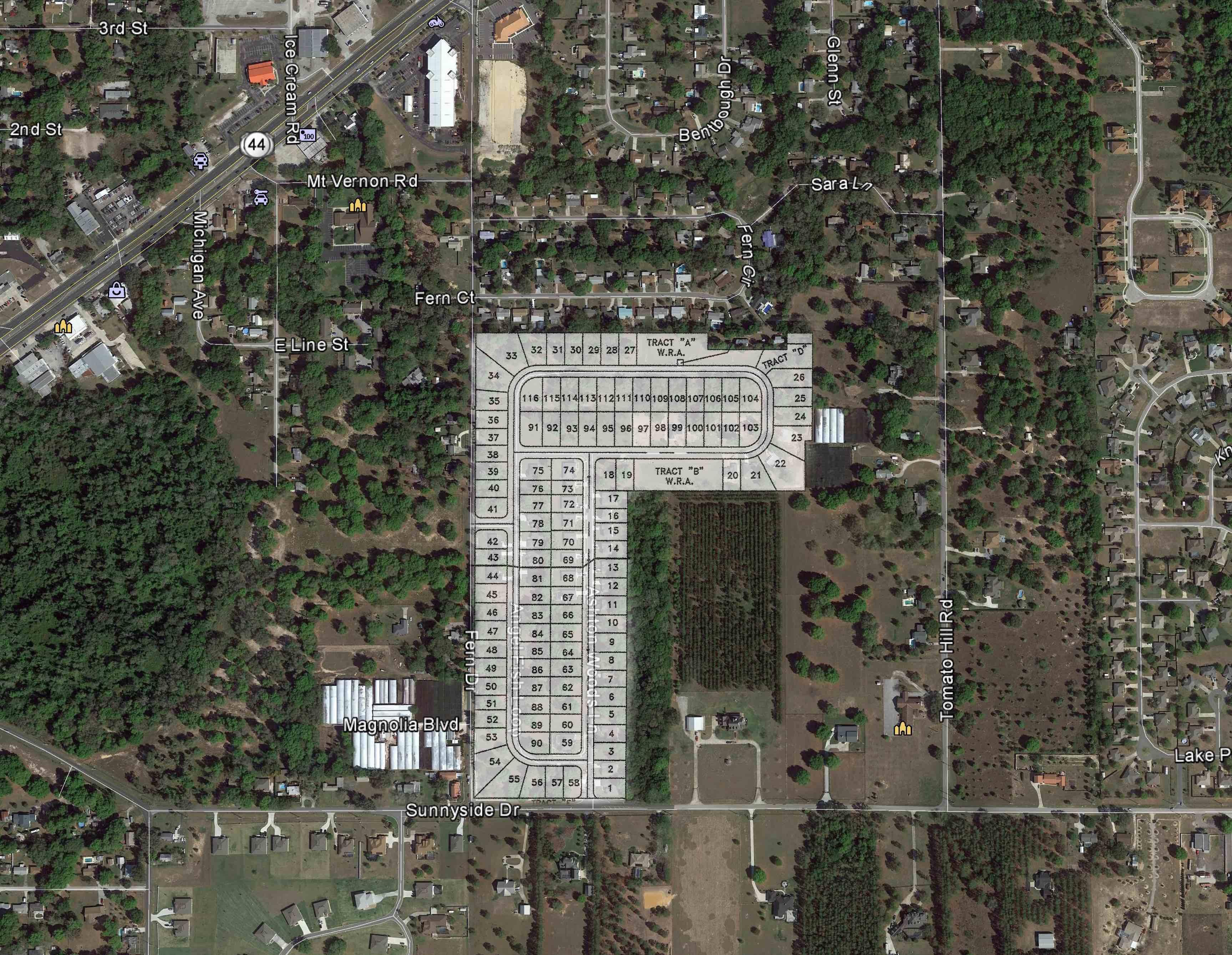 Ashton Woods_Google Earth Aerial_site plan overlay