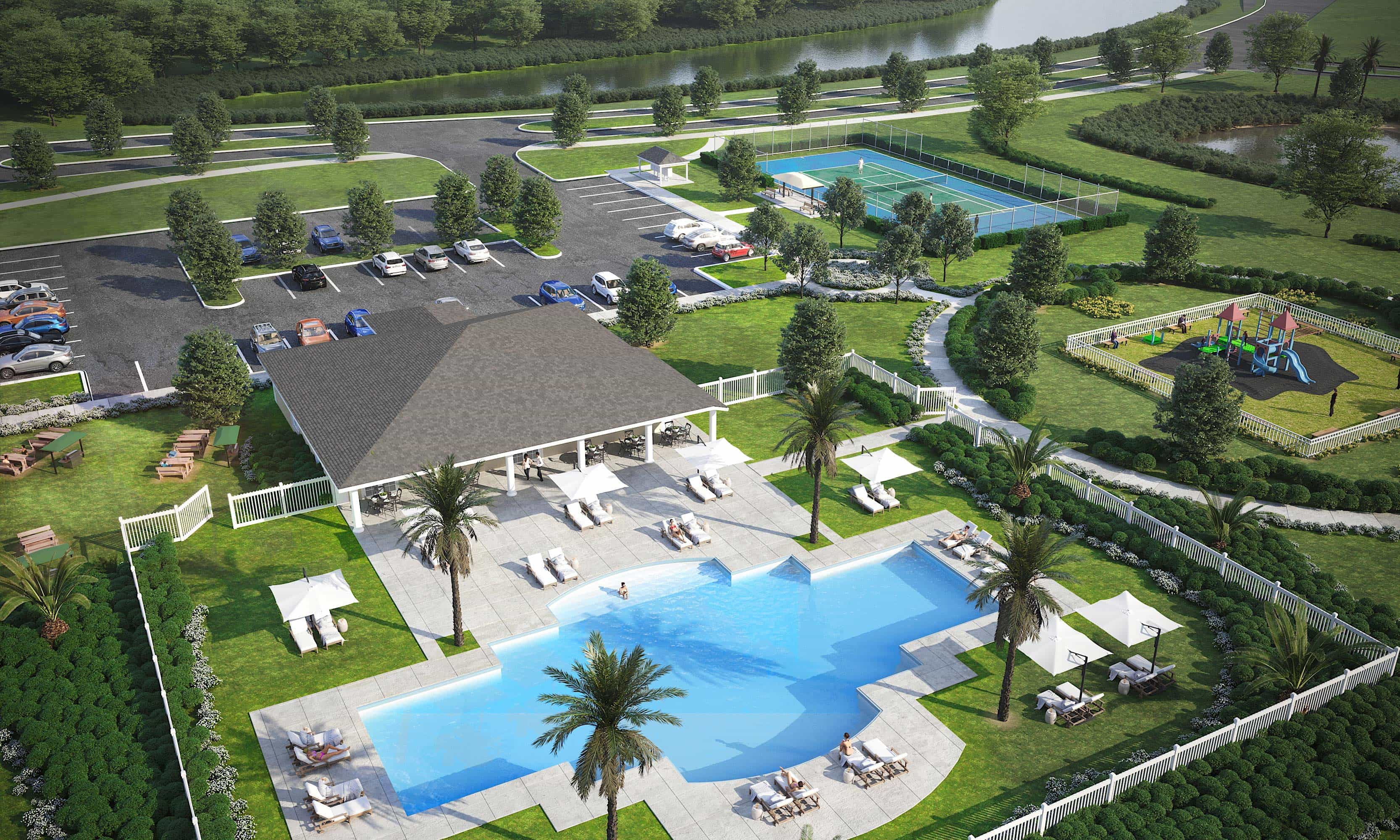 Waterstone_Saint Lucie County_Clubhouse Pool-min